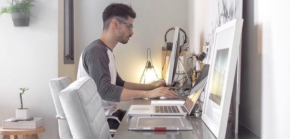 man learning google sheets