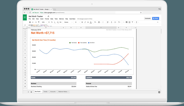Net Worth Spreadsheet