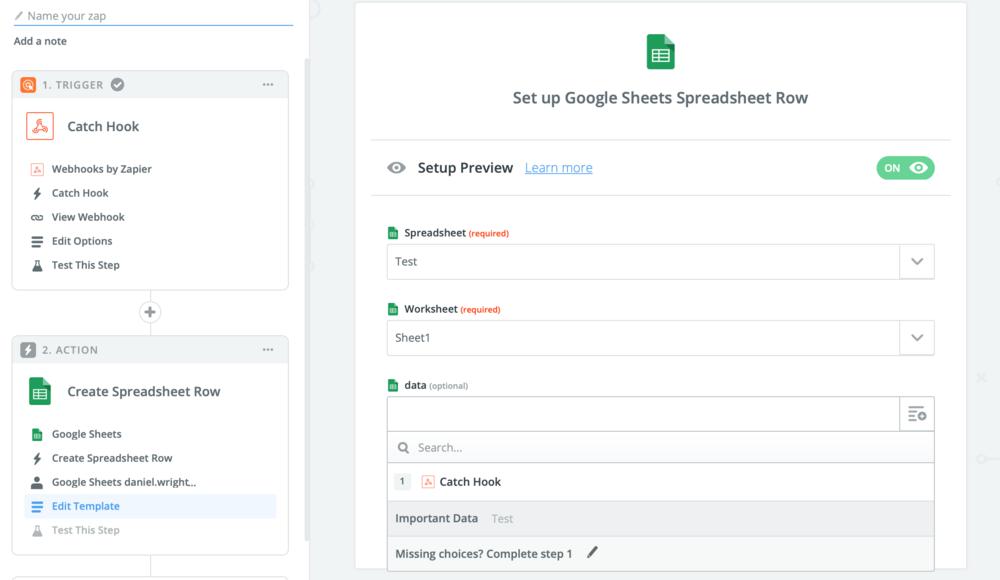 Set up Google Sheets