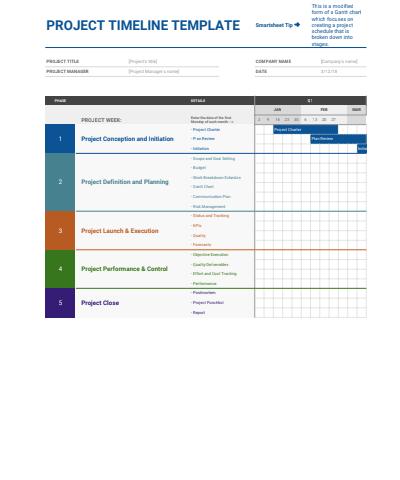 Project Timeline Google Sheets