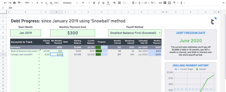 Debt Snowball 2019