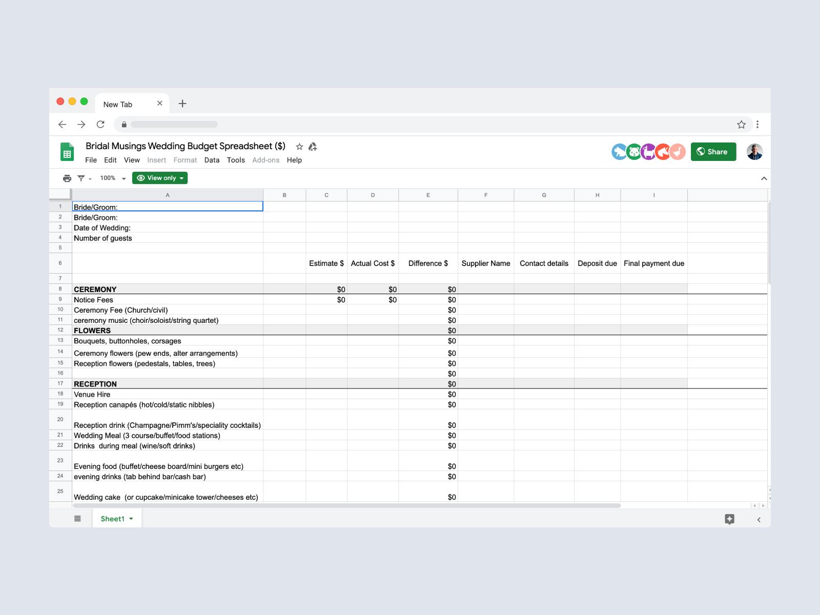 Wedding-planning-spreadsheets