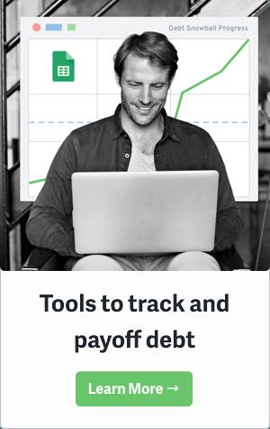 Debt Payoff Sidebar Green Button