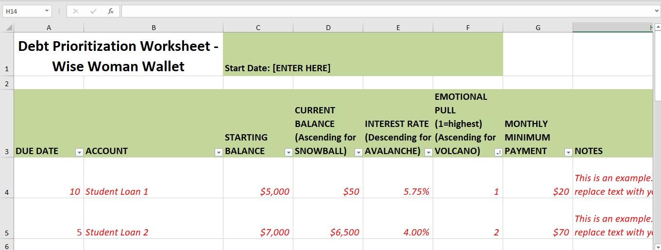 Debt Snowball Wise Woman
