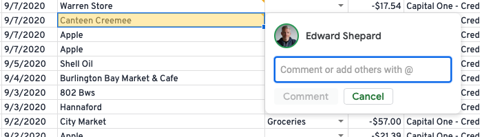Add Comments And Assign Tasks In Google Sheets