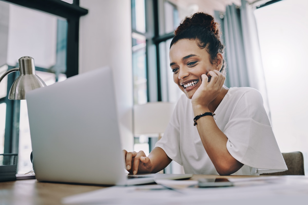 Woman Smile Computer