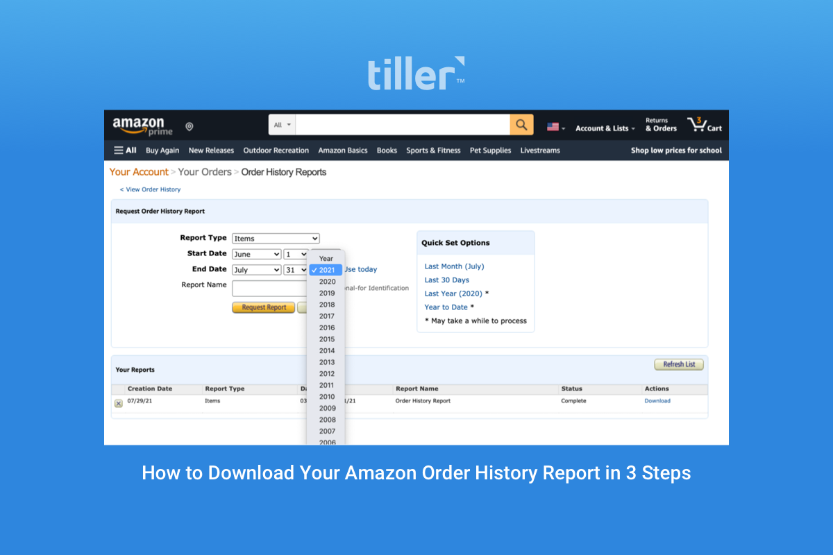 how to download your amazon order history report in 3 steps