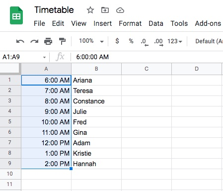 how to lock cells in google sheets step 2