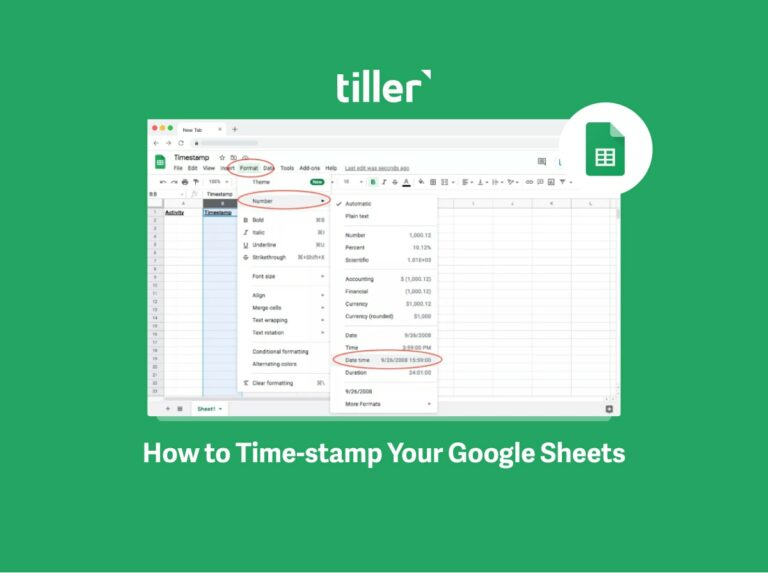 how to time stamp in google sheets