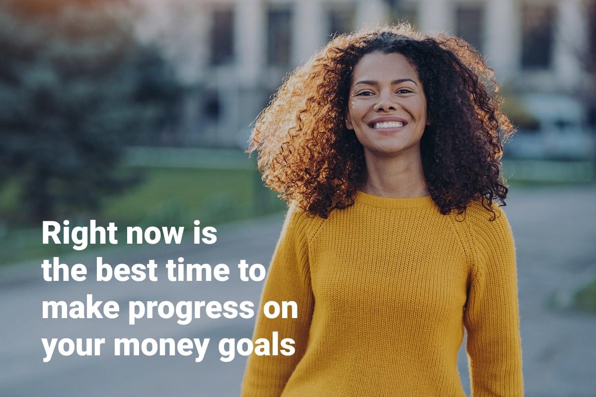 money goals progress now