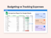 budget vs track expenses