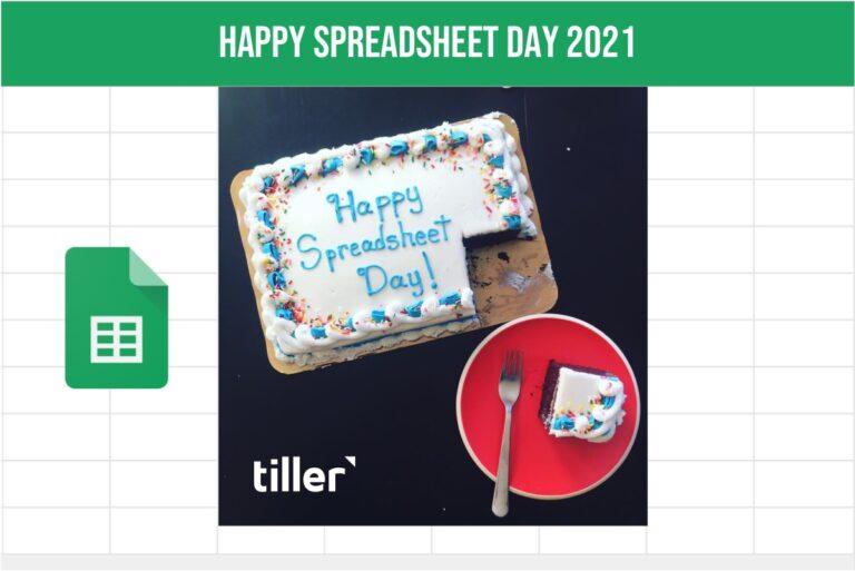 spreadsheet day 2021